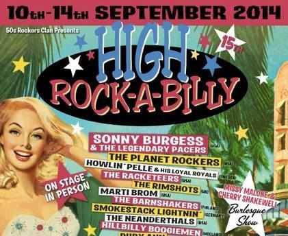High Rockabilly Calafell Spain 2014 Flyer