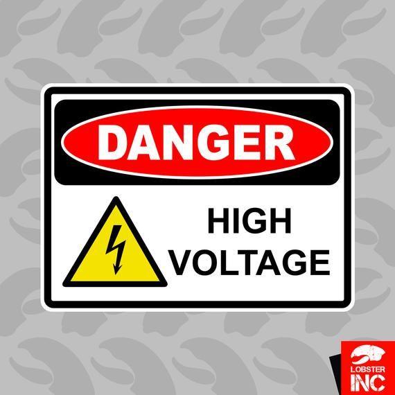 Danger High Voltage Sticker Self Adhesive Vinyl Door Window C127 Vinyl Doors Adhesive Vinyl Adhesive