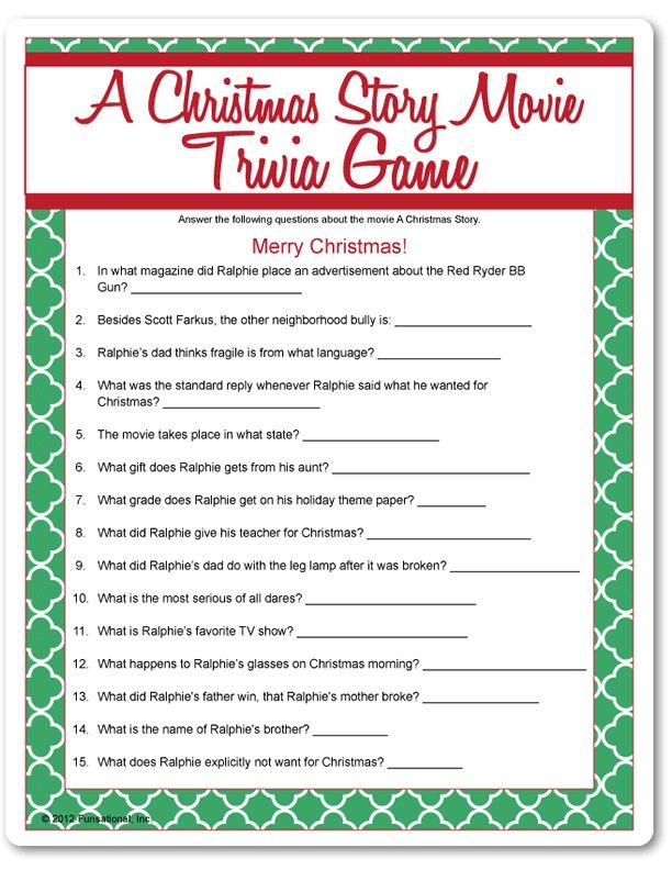 Fun Christmas Party Game | Christmas trivia, Christmas story movie, A christmas story