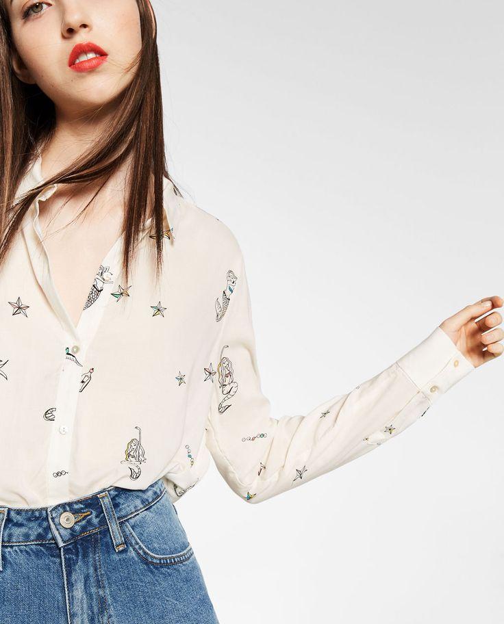 Immagine 3 di CAMICIA STAMPATA SIRENA di Zara