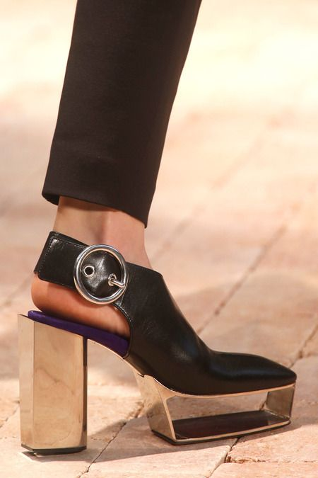 Latest heels for Céline's Spring 2014 collection. #pfw