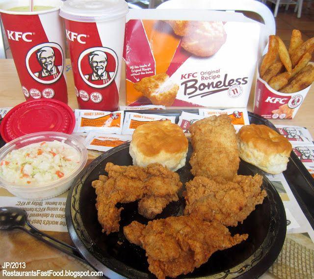 Kfc Fried Chicken Kfc Kentucky Fried Chicken 4 Piece Meal Original Recipe Boneless Box Food Happy Foods Kfc Original Recipe