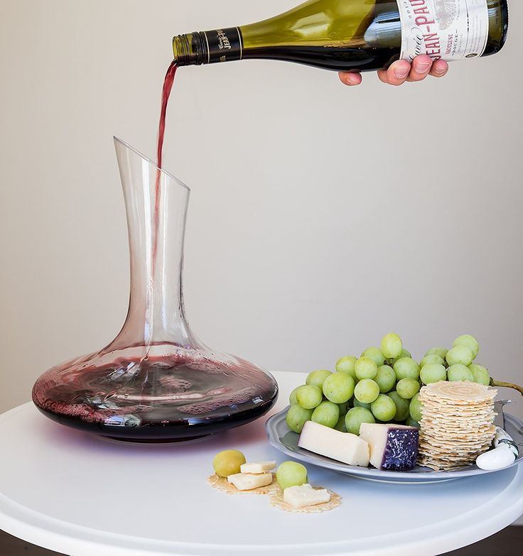 Amazon.com | Artisan Wine Decanter + Bonus Wine Aerator ($15 value) Set by Comfify - Superior Wine Carafe, Sculpted Glass Design for Delicious Taste & Smooth Pour - Wine Enthusiast Gift: Wine Decanters