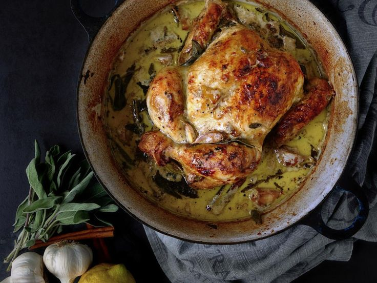 Kuře pečené v mléce | Coolinářka