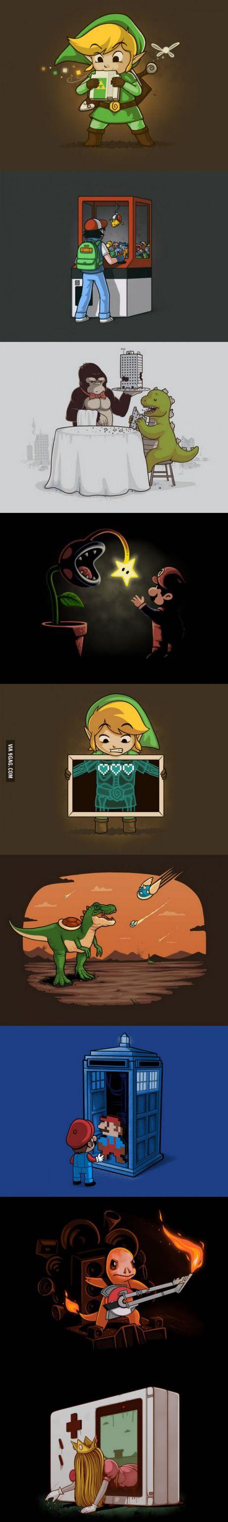 tout les persos connues des jeux vidéos nintendo.