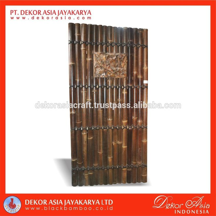 Black half bamboo fence with 4 back slats, decorative inserted and black coco rope, View black bamboo, DEKOR ASIA Product Details from PT. DEKOR ASIA JAYAKARYA on Alibaba.com