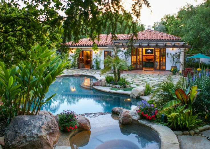 Dream Airbnb: This tropical cabana-style home with outdoor spa and pool in Santa Barbara, California