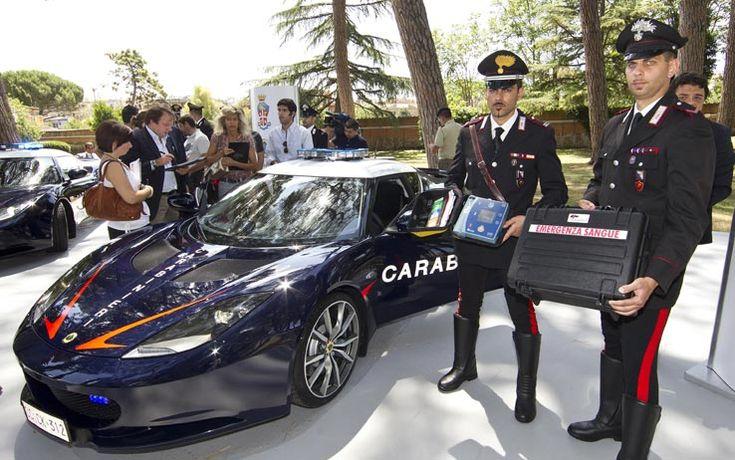 I Carabinieri viaggiano in Lotus