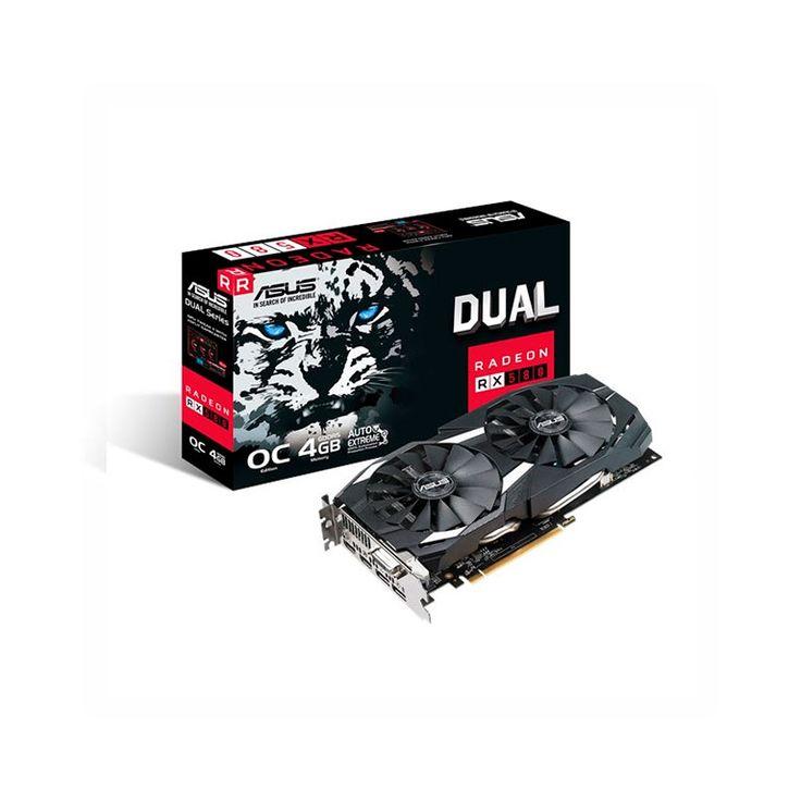 TARJETA GRAFICA ASUS DUAL-RX580-O4G 4GB GDDR5 PCIE3.0 HDMI