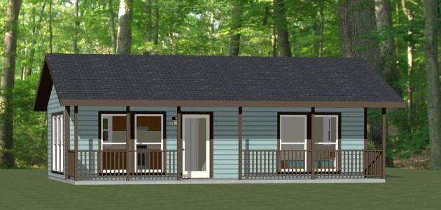 32x16 House 32x16h1d 512 Sq Ft Excellent Floor Plans Tiny House Plans Tiny Guest House Small House Plans