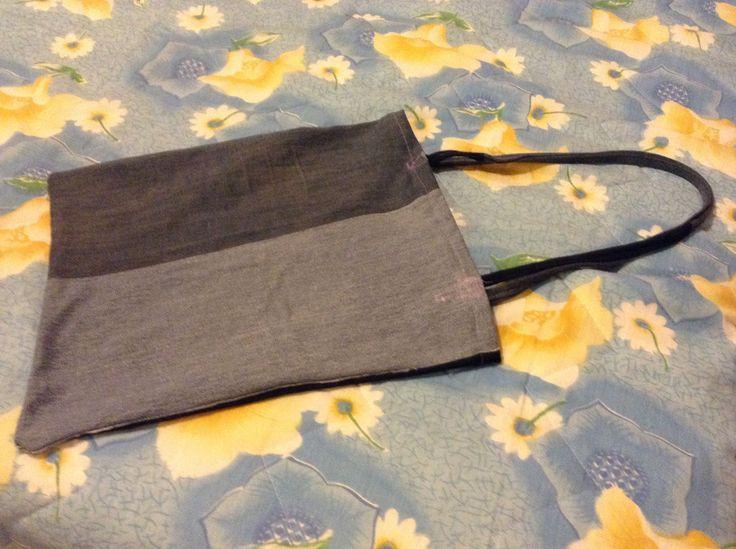 borsa shopper recuperando jeans (idea copiata dal web)