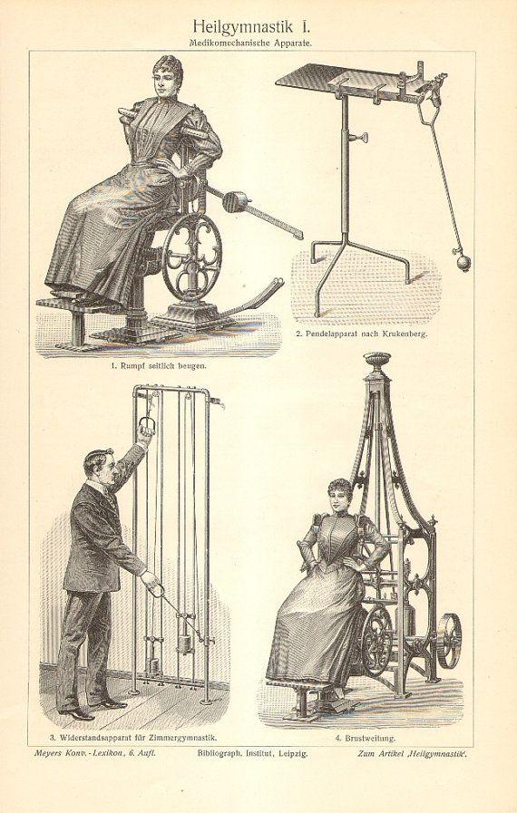 1904 Gustav Zander's Mechanotherapy Early by CabinetOfTreasures
