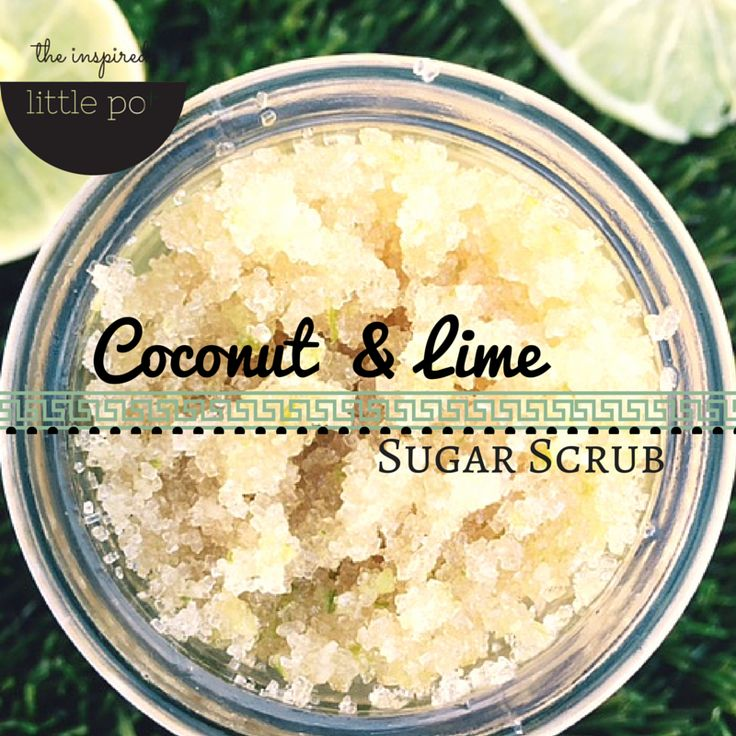 Make your own coconut lime scrub - scrubs are so simple to make, and great for beginner body-care-product-makers! Make it and gift to someone you love.