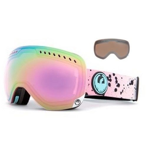 NEW Dragon APXs Splatt Pink Mirror Womens Ski Snowboard Goggles +Lens Msrp$200