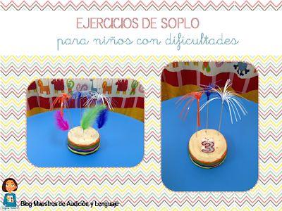 Ejercicios de soplo para niños con dificultades motóricas.  http://blogdelosmaestrosdeaudicionylenguaje.blogspot.com.es/2014/05/ejercicios-de-soplo-para-ninos-con.html