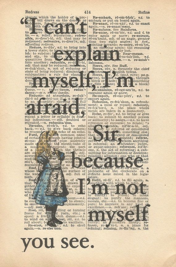 alice in wonderland vintage print by orangebutterflyart on Etsy