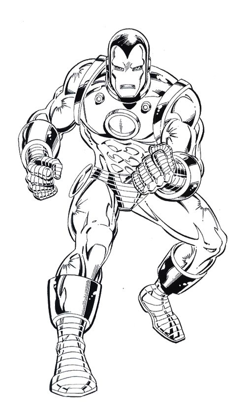 Iron Man Alert Coloring Page   Kids Coloring Pages ...