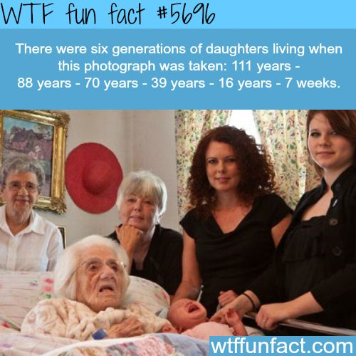 Six generations of daughters in one photo - WTF fun fact