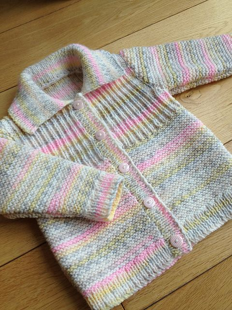 Ravelry: hetty24tigger's Girly rib yoke cardigan