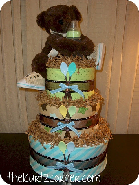 Diaper Cake #babyshower #diy