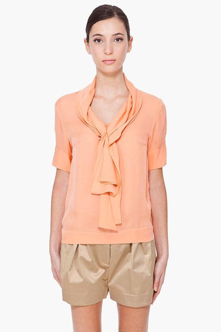 shazia apricot blouse ++ malene birger: Blouses, Apricot Blouser, Clothing, Bow, H S Tops, Blouse Malene, Clothes Collected, Birger Shazia