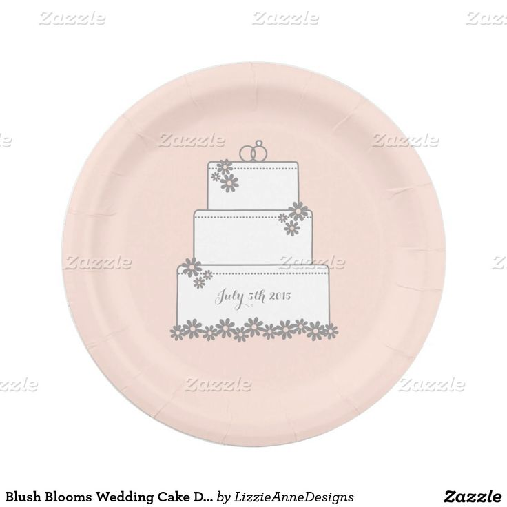Blush Blooms Wedding Cake Dessert Plate 7 Inch Paper Plate  sc 1 st  Pinterest & 113 best Wedding Paper Plates images on Pinterest | Wedding paper ...