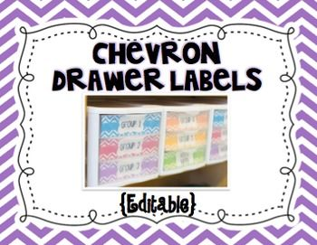 Chevron Drawer Labels {Editable}