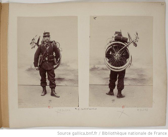 [Collection Jules Beau. Photographie sportive] : T. 3. Année 1896 / Jules Beau - Bicyclette pliante Gladiator !