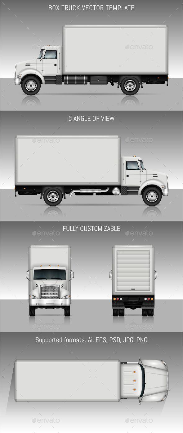 box truck vector template photoshop psd vector eps ai