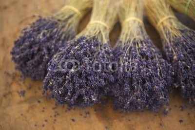Dried lavender in a market - one of the first things you think of when thinking of Provence!