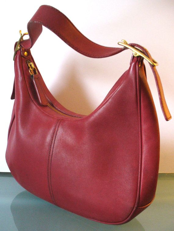 Coach Cherry  Red Hobo Style Bag by TheOldBagOnline on Etsy, $54.99