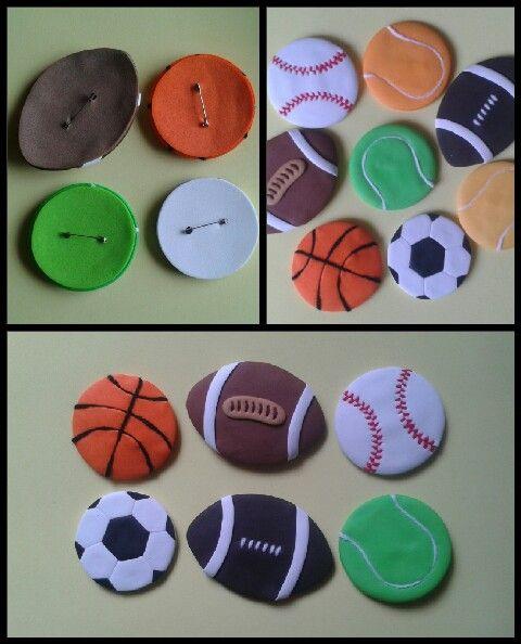 Botones decorativos para fiestas infantiles y otras ocasiones, elaborados con Foamy.