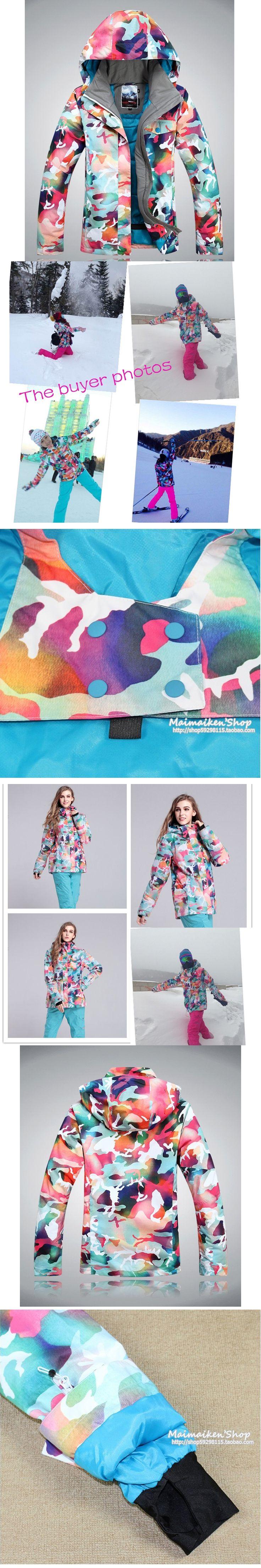 Free shipping skiing jacket snowboarding jacket waterproof women snow suit for women jacket Mountaineering warm coat