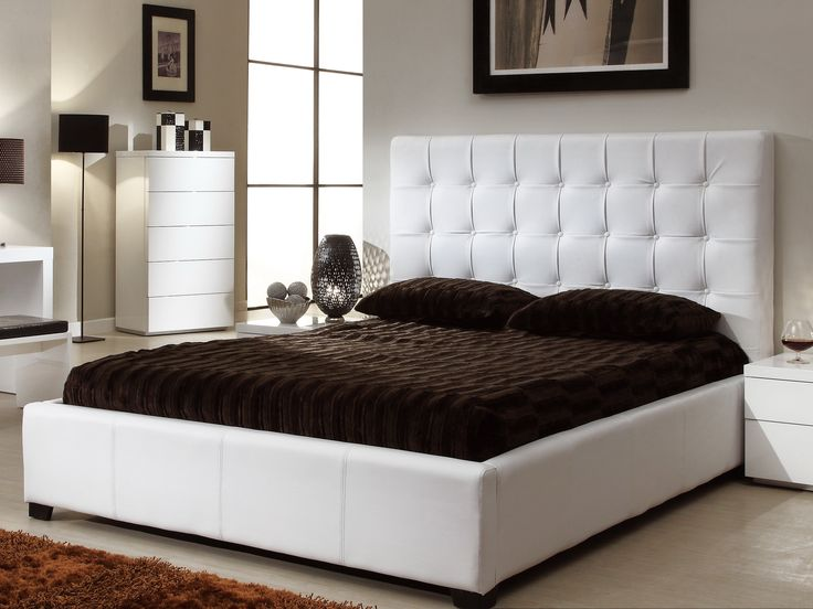 """AtHome Athens Bed White - Athens Bed in white offers you exceptional comfort, unmatched design, and supreme durability all in one package. It is one of the best deals you can find anywhere. The product is sure to give you an everlasting experience with its elegant design and exceptionally comfortable seating.  Twin Size 84.5"""" x 44"""" x 51"""" Full Size 84.5"""" x 59"""" x 51"""" Queen Size 88.5"""" x 65"""" x 51"""" King Size 88.5"""" x 82.5"""" x 51"""""""