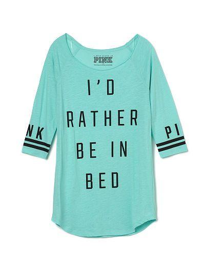 PJS: Sleep Shirt - PINK - Victoria's Secret medium