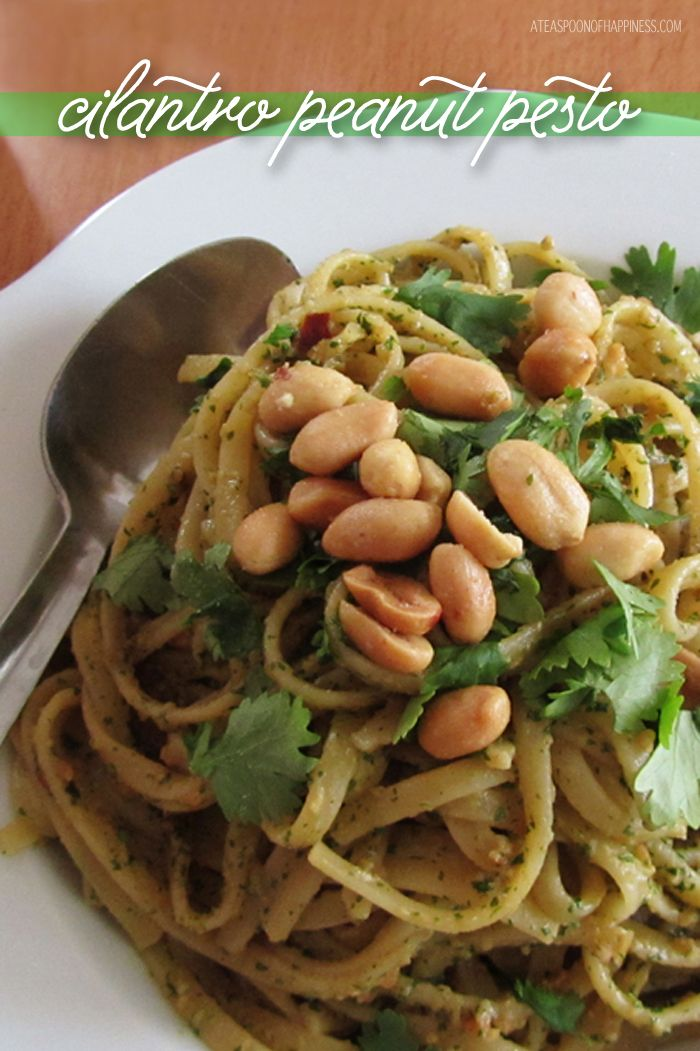 Coriander  Peanut Pesto good with pasta & chicken