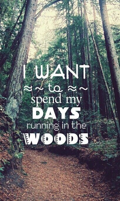 I want to spend my days running in the woods #everymilematters #charitymiles