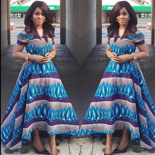 African Maxi Gown Dress ~African fashion, Ankara, kitenge, African women dresses, African prints, African men's fashion, Nigerian style, Ghanaian fashion ~DKK