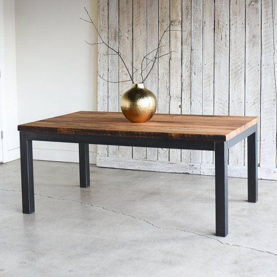 Industrial Dining Table 2 Reclaimed Wood Kitchen Table Etsy Dining Table Dining Table Design Industrial Dining Table