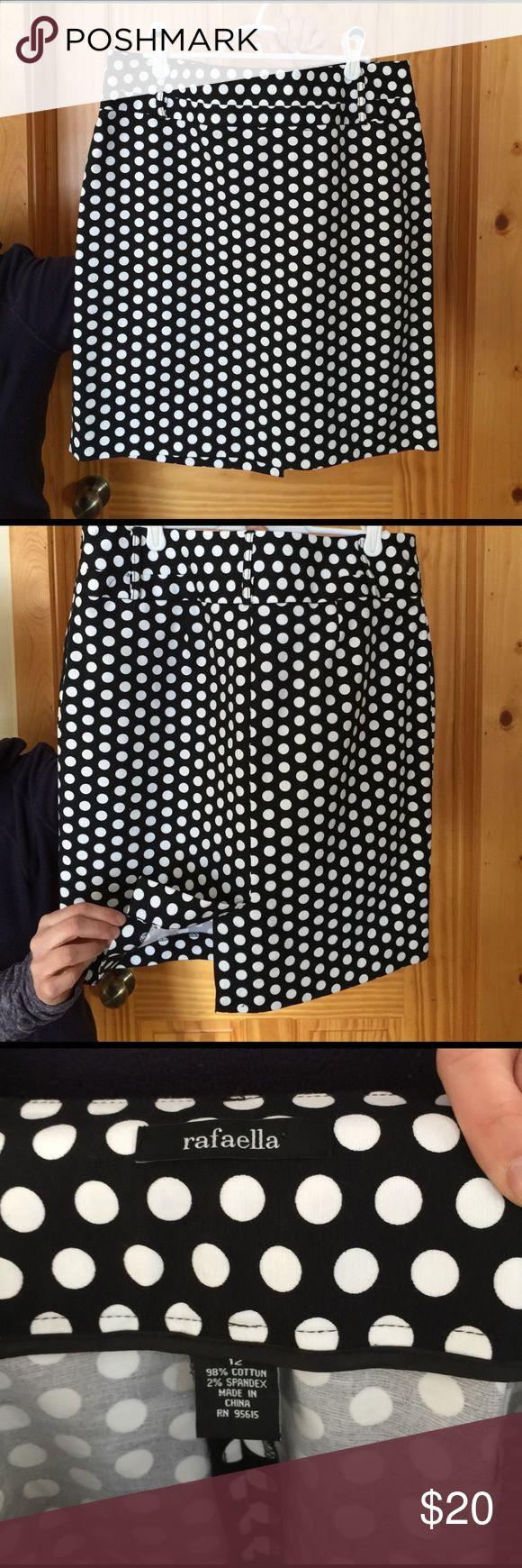 Rafaella Polka Dot Skirt Stunning Polka dot skirt, great for going out of work,soft, only worn a couple times. Rafaella Skirts Pencil