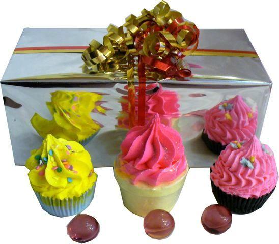 Mini Coffret de Cupcakes de Bain
