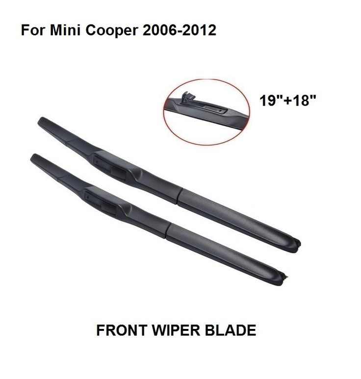 "Front Window Windscreen Wiper Blade For Mini Cooper 2006-2012 19""+18"" High Quality  Natural Rubber Clean Front Windshie #Affiliate"