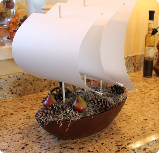 how to make this thanksgiving center piece (great site for how to make things - knockoffdecor.com)