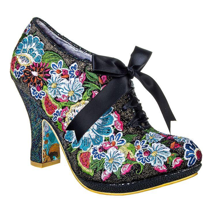 Irregular Choice Dizzy Diva Shoes (Black)