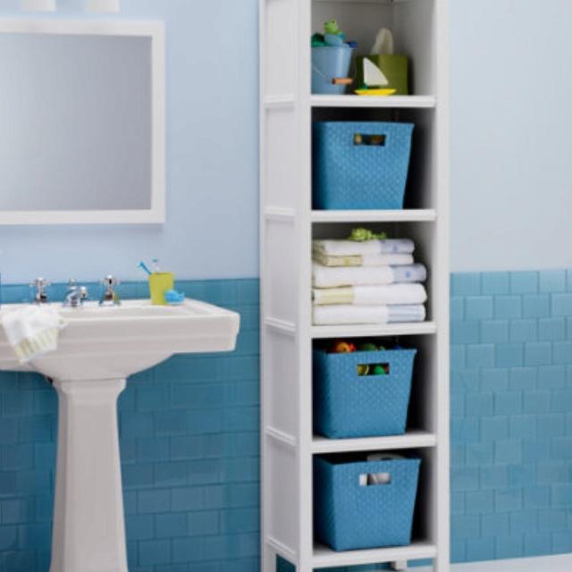 Kids Bathroom Storage Ideas Part - 24: Kidsu0027 Bookcases: Kids White Wooden Bookcase In Bathroom Storage