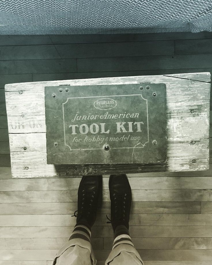 My own junior American tool kit. I also just signed up for my first few welding classes.   #estatesale #welding #newthings #toolkit #oldshit #vintage