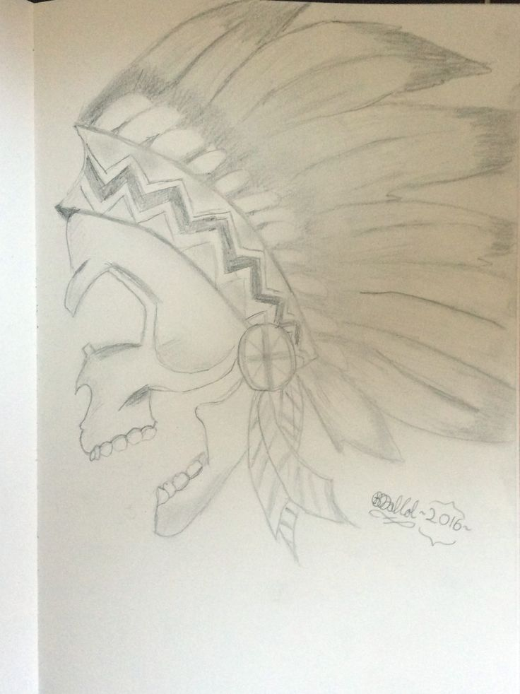 Native American Skull cx This one was fun to draw