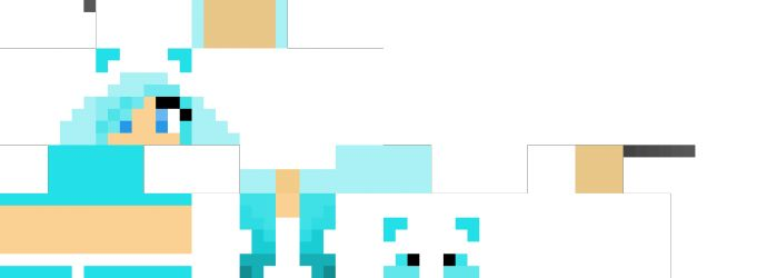 Blue panda girl minecraft para chicas minecraft girl - Cool girl skins for minecraft pe ...