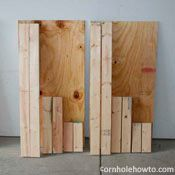 DIY corn hole boards for the beach!