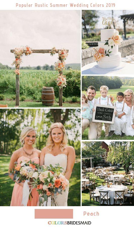 8 populaire rustieke kleurideeën voor de bruiloft in de zomer voor 2019